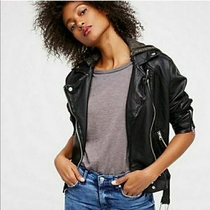 NWT Free People faux leather jacket